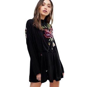 NWT Free People Gemma Floral Mini Dress